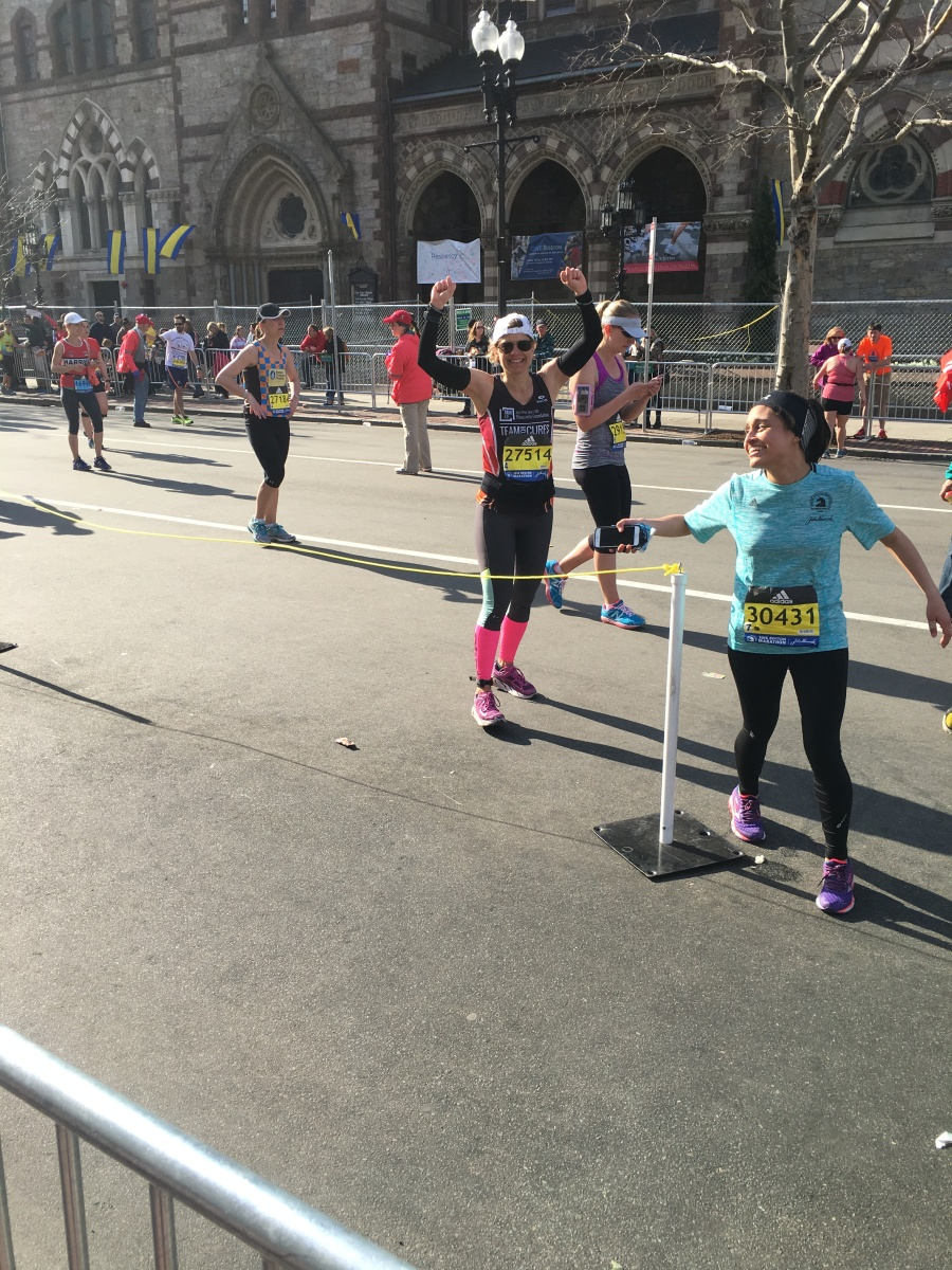 Michelle's Boston Marathon 2016 Finish