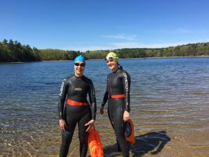 Sandra and Sarah at Walden Pond