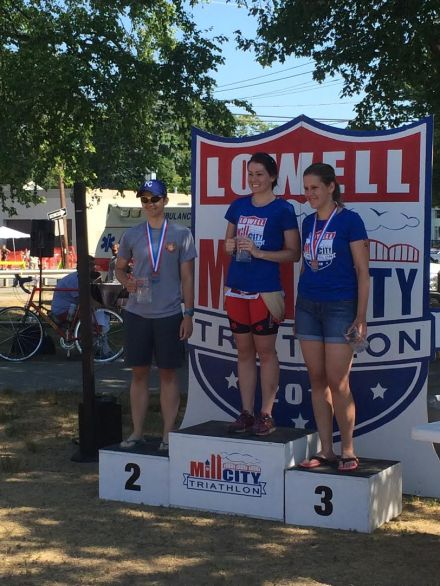 Candice on the Podium at Mill City Sprint 2016