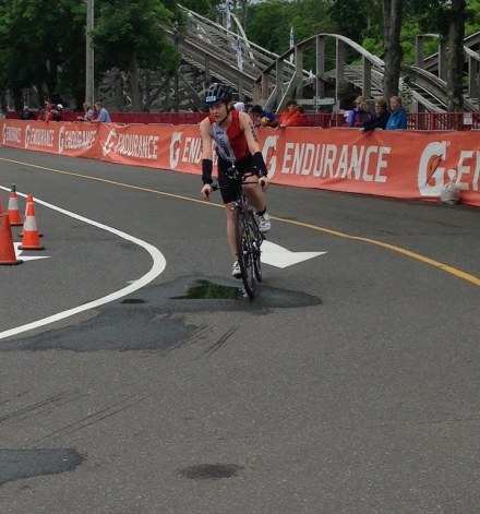 Carole Bikes In at Rev3 Quassy Half 2016