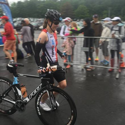 Carole Bikes Out at Rev3 Quassy Half 2016