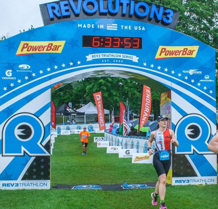 Carole Crosses the Finish Line at Rev3 Quassy Half