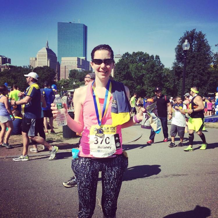 Melaney at BAA 10K 2016