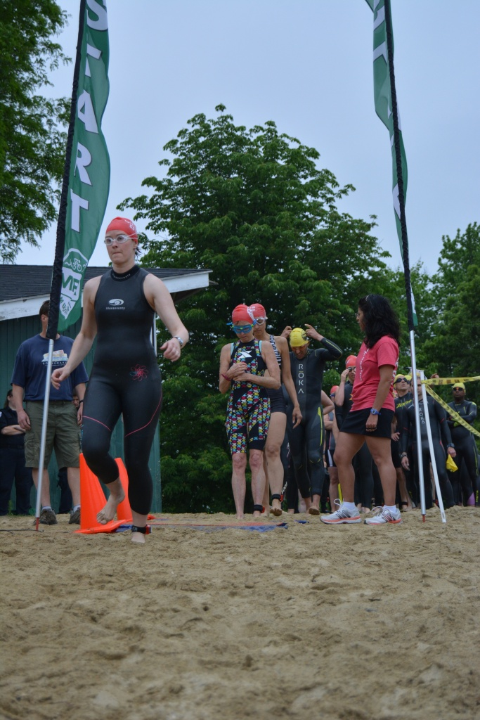 Sara D at the Swim Start Worcester Tri-Fest 2016