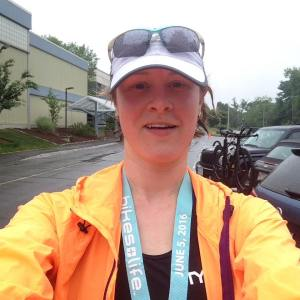 Sara D Worcester Tri-Fest 2016 Finisher Photo